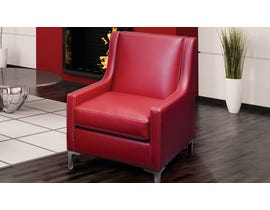 SBF Upholstery Dylan Collection Red Leather look accent chair 2018