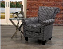 SBF Upholstery Vincent Collection designer fabric Roll back accent chair charcoal grey 2022