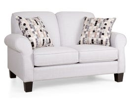 Decor-Rest Joey Sky Collection Fabric Loveseat in Grey 2025