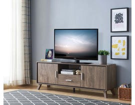 Brassex 60'' TV Stand with Storage in Walnut Oak 202686