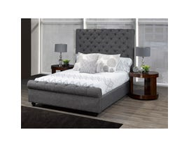 Brassex Raleigh King Platform Bed Frame Grey B2029K-GR