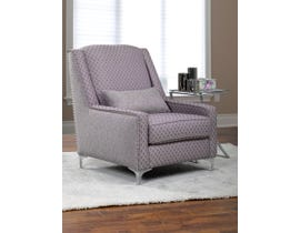Sofa By Fancy Liberty Collection Two-Tone Designer Fabric Accent Chair Grey Finish  2041
