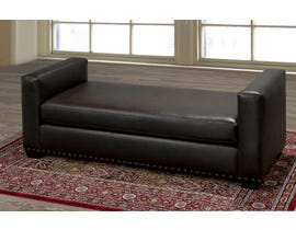 Sofa By Fancy Weldon Collection  Leather look  day bed chocolate finish  2042