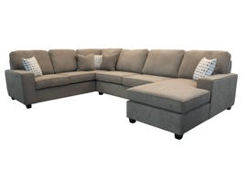 Edgewood Furniture 3 piece RHF Chaise Sectional Sofa Set in Laporta Latte 2065