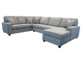 Edgewood Furniture 3pc LHF Sofa Sectional in Safari Shark Grey 2065