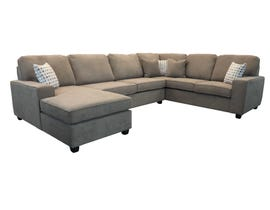 Edgewood Furniture 3 piece LHF Chaise Sectional Sofa Set in Laporta Latte 2065