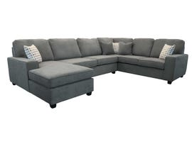 Edgewood Furniture 3 piece LHF Chaise Sectional Sofa Set in Laporta Charcoal 2065