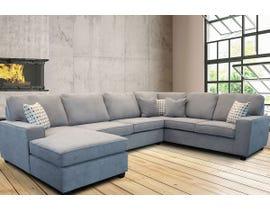 Edgewood Furniture 3 piece LHF Chaise Sectional Sofa Set in Laporta Ash 2065