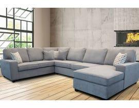 Edgewood Furniture 3 piece RHF Chaise Sectional Sofa Set in Laporta Ash 2065