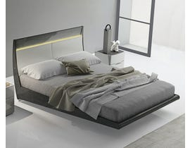 K Elite Asher Series Bed in Light Grey 208