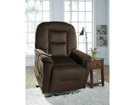 Signature Design by Ashley fabric Power Lift Recliner Samir in brown 2080112