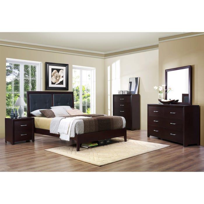 Mazin Edina 6-piece Queen Bedroom in cherry Set 2145Q