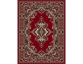 Midas Small 5X8 Rug in Red /Beige 2167-R0355