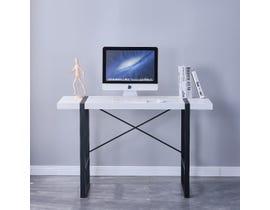 Brassex Alexis Series Office Desk in White 2195-WH