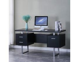 Brassex Alero Series Office Desk in Black 2199-BK