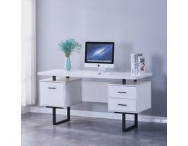 Brassex Alero Series Office Desk in White 2199-WH