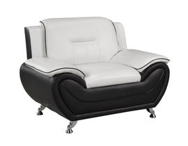 Brassex Riley Series Chair in Black/White 2220