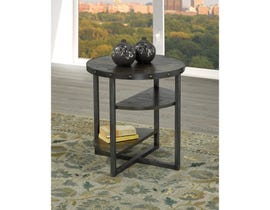 Brassex Oxford wood espresso End Table with metal legs 223-06