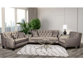SBF Upholstery 3pc Fabric Tufted Living Room Set in Latte 2245