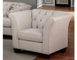 Sofa by Fancy Rosa Collection Fabric Chair in Gleam Cream finish 2255-3