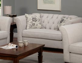 Sofa by Fancy Rosa Collection Fabric Love Seat in Gleam Cream finish 2255-2
