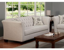 Sofa by Fancy Rosa Collection Fabric Sofa in Gleam Cream finish 2255-1