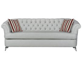Sofa by Fancy Cadenza Collection Fabric Sofa Tufted Back with Crystals in Gleam Cream finish 2268-1