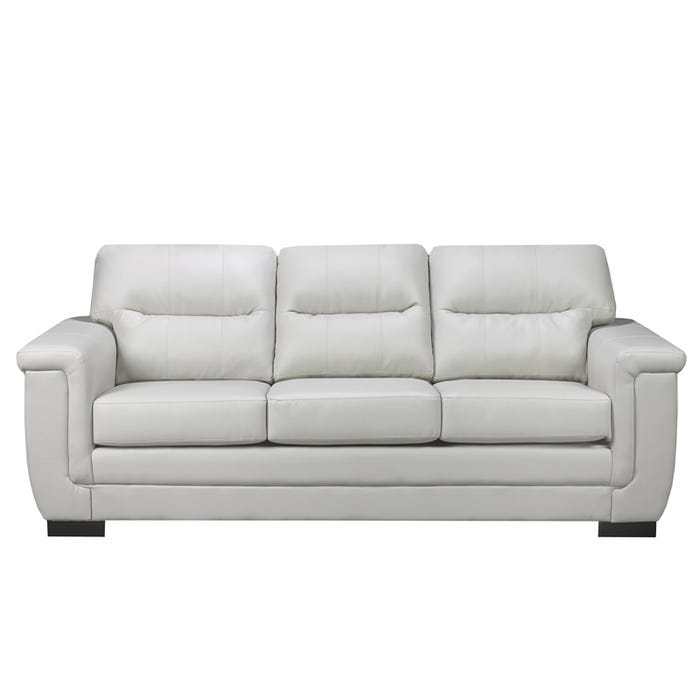 A-Class Leather Look Sofa in Grey 6150