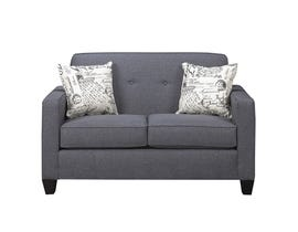 A&C Furniture Fabric Loveseat in Royal Grey 3300