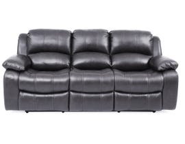 Amalfi Dual Power Reclining Leather Sofa in Dark Charcoal 8251