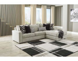 Signature Design by Ashley Ravenstone Series 2pc RAF Sectional in Flint 26905-66-17