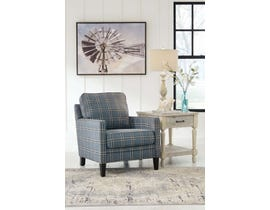 Signature Design by Ashley Traemore Collection Fabric Accent Chair with Striped Stitching in River 27403