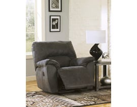Signature Design by Ashley Tambo Series Leather Look Rocker Recliner in Grey 2780125