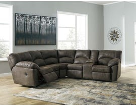 Signature Design by Ashley 2pc Reclining Sectional in Canyon 27802S1