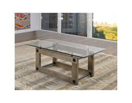Brassex Fresno glass and wood Coffee Table in Grey 280-02