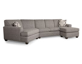 Decor-Rest RHF sectional with LHF chaise in charcoal grey 2805