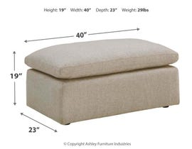 Signature Design by Ashley Melilla Series Oversized Accent Ottoman 2830208
