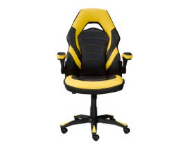 Brassex Mia Series Gaming Chair in Black/Yellow 2857