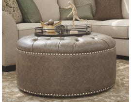 Millennium Wilcot Series Oversized Accent Ottoman in Gray 2870108