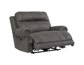 Signature Design by Ashley Austere Series Fabric Zero Wall Power Wide Recliner in Grey 3840182