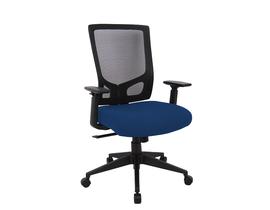 Brassex Office Chair in Black/Blue 2919-BL