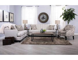 Decor-Rest Paul Collection 3-PC Sofa Set with Accent Chair in Espresso 2932