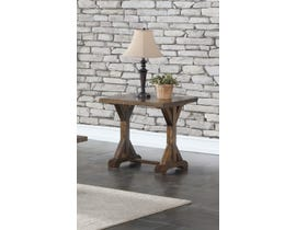 Brassex Jayden Collection Wood End Table in Light Grey TN-275