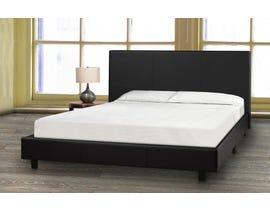 Brassex Queen Platform Bed and Mattress Set in Black 3032 Q BLK-P