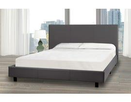 Brassex Queen Platform Bed and Mattress Set in Grey 3032 Q GR-P