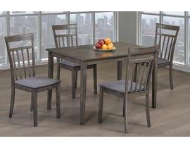 Titus Furniture 5pc Dining Set in Grey Finish T3116-SET