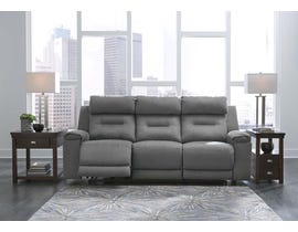 Signature Design by Ashley Power Reclining Sofa in Smoke 3130315