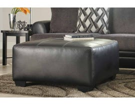 Signature Design by Ashley Kumasi Series Oversized Accent Ottoman in black 3220208