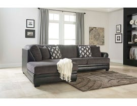 Signature Design by Ashley Benchcraft Collection 2pc LAF Corner Fabric Sectional in Smoke 3220216-67