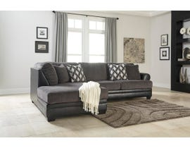 Signature Design by Ashley Kumasi Series LAF Corner Chaise Sectional in Smoke 32202